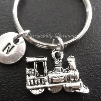 3D train keyring, keychain, bag charm, purse charm, monogram personalized item No.614