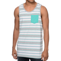 Empyre Kool Mo Dee Mint Stripe Pocket Tank Top at Zumiez : PDP
