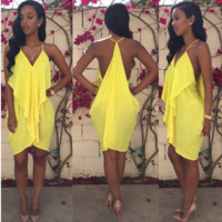 Yellow Empress Party Dress