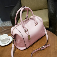 Women's Fashion PU Leather Lady Boston Crossbody Shoulder Bag Tote Handbags