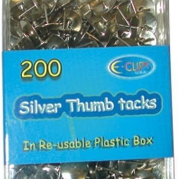 Thumb Tacks - assorted colors - 200 count - CASE OF 48