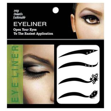 New 4 Pair Black Eyes Sticker Cat Style Eyeliner Sexy Temporary Double Eyeshadow Eyelid Tape Tattoo Eye Makeup Tools Cosmetics