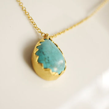 Tear drop Turquoise necklace