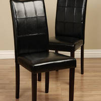 Eveleen Black Dining Chair