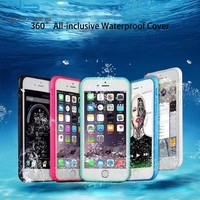 Waterproof Phone Case for iphone 7 7 Plus Cover Water Proof Case for iPhone 6S 5 5S 6Plus Shockproof Touch Cover Armor Swim Case