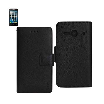 New Wallet Case In Black For Alcatel One Touch Evolve 2 3-In-1