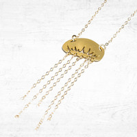 Jellyfish Chain Dangle Necklace