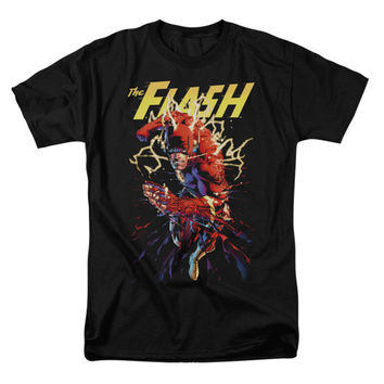 Justice League Of America Men's  Ripping Apart T-shirt Black