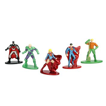 Jada Nano Figures DC Wave 1- 5 Pack B- Superman Aquaman Batman Supergirl Lex Luthor