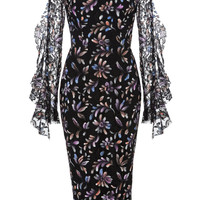 Liberty Painted French Lace Dress | Moda Operandi