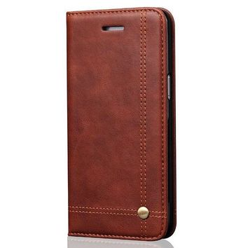 VONW3Q Phone Case Leather Wallet Phone Case with Credit Card Slot Holder iPhone 8 Cover Kickstand Case for iPhone6/7/8 Plus Galaxy S7/S8