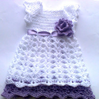 White Baby dress  Newborn Outfit Shower gift Photo prop Take home  Christening Infant baby frock Summer Dress