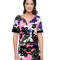 Endless Summer Printed Ponte Top by Juicy Couture