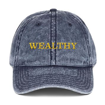 Wealthy Vintage Cotton Twill Cap