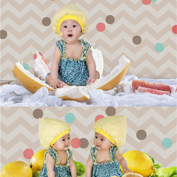 5*6.5ft Newborn Baby Photo Background Backdrop props Colorful Spot with Wooden Floor Birthday Background Kids Photos CM-6661