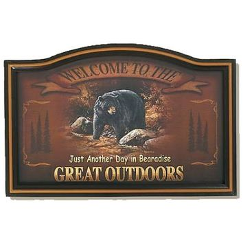 Wild Wings Welcome To The Outdoors Bear Sign
