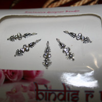 Handmade Bindi SILVER sticker Collection for Beautiful FACE and Looks.