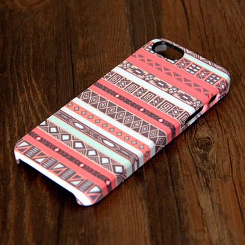 Pink Ethnic White Stripes iPhone 6 Plus 6 5S 5C 5 4 Protective Case 305