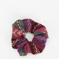 Woven Geo Scrunchie Ponytail Holder - Urban Outfitters
