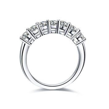 Arienne .38CT Petite Cathedral Pavé Band IOBI Cultured Diamond Ring