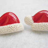Cute Santa Claus Hat Post Earrings
