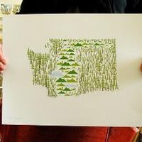 Washington State print by aruppel on Etsy