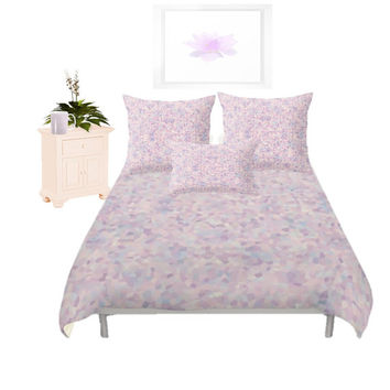 Duvet Cover - 3 different sizes to Choose From, Without Inserts, Bedroom, Home decor, Romantic, Girly, Pink, Lavender, Pastel