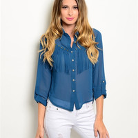 Saddle Up Button Up Top