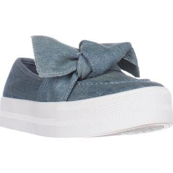 G Guess Chippy Slip-On Fashion Sneakers, Medium Blue, 8 US