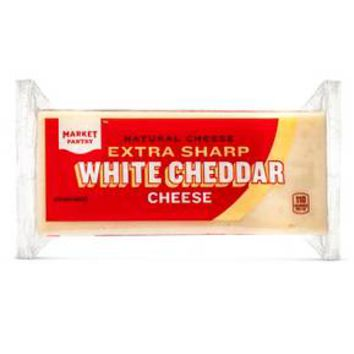 Extra Sharp White Cheddar Cheese - 8oz - Market Pantry™