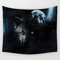 Spooky Wolf Tapestry