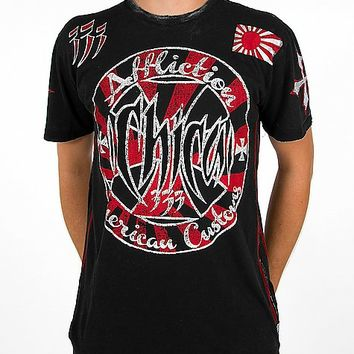 Affliction American Customs Chica Stamp T-Shirt