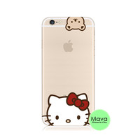 Hello Kitty iPhone 6s 6 Plus Transparent Clear Soft Case
