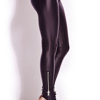Tough Girl Faux Leather Skinny Pants