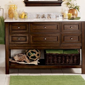 Classic Single Wide Sink Console - Espresso finish