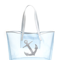 You're My Anchor Sheer Mesh Tote