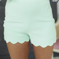 Scalloped Shorts Mint