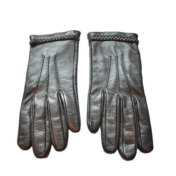 Gucci Women's Black Leather Riding Gloves 354370