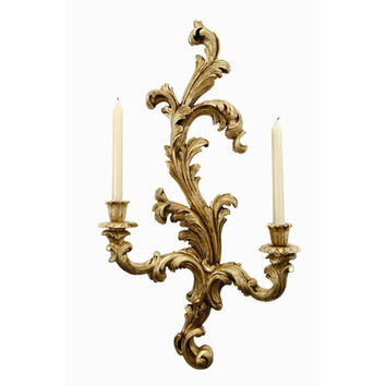 Design House LLC 6006-GL Sutton Gold Leaf Left Candle Wall Sconce