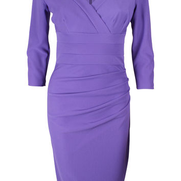 Jemima Indigo Purple Fitted Dress