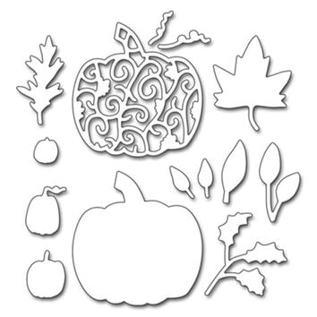 Metal Cutting Dies Halloween pumpkins and leaves Stencil for DIY Scrapbooking Photo Paper Cards Decorative Crafts Die Supplies
