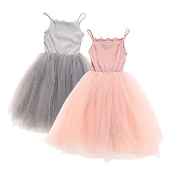1-6Years  Baby Girl Tulle Princess Dress Wedding Pageant Party Dress Tutu Skirt