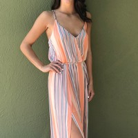 Walk It Out Jumpsuit- Peach