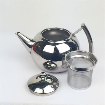 Stainless steel thickening liner tea pot Large canisters coffee pot teapot water kettle