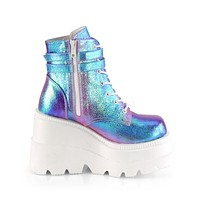 Purple Shifting Glitter Front Ankle Boot