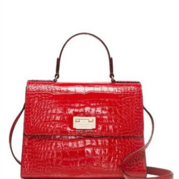 Kate Spade New York Knightsbridge Doris Croc Embossed Satchel