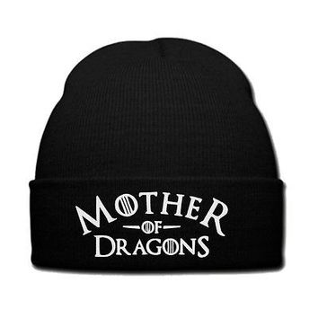 MOTHER OF DRAGONS BEANIE OR SNAPBACK HAT GAME OF THORENES
