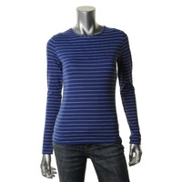 Tommy Bahama Womens Mingling Stripes Matte Jersey Striped Casual Top
