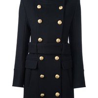 Balmain Tied Double Breasted Coat - Farfetch