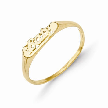 14k Yellow Gold Yellow Gold Baby Ring